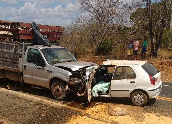 Colisão resultou na morte de motorista na BR-343