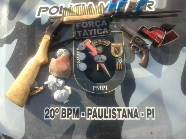PM prende homem com armas e munições no interior do Piauí