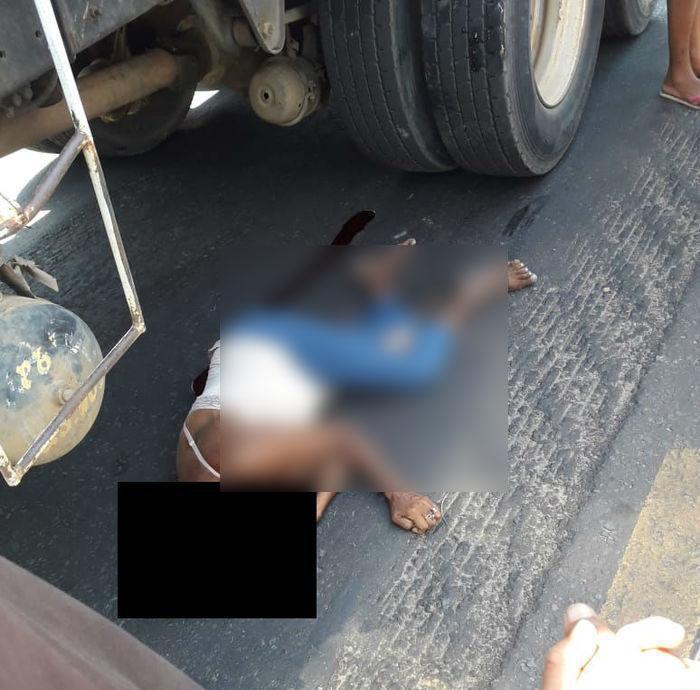 Mulher morre ao ser atropelada por caminhão em Timon
