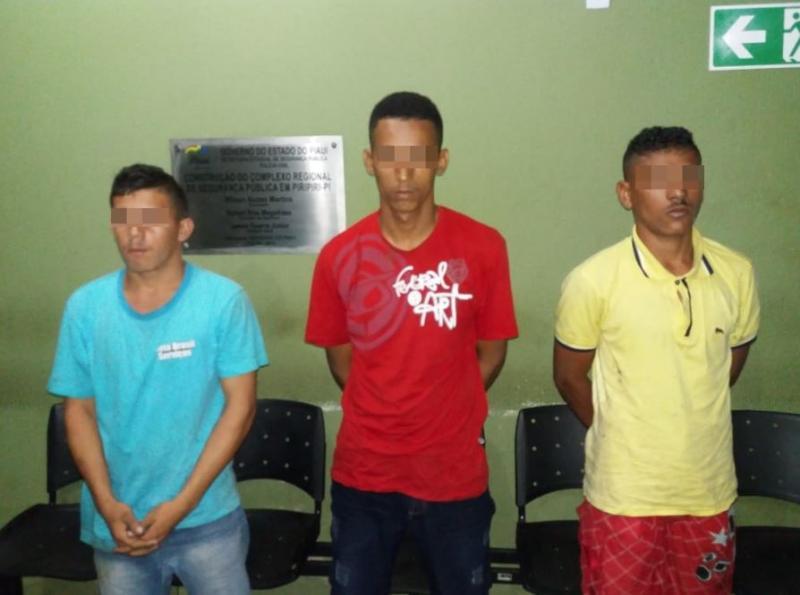 Três bandidos são presos por arrobar estabelecimentos comerciais