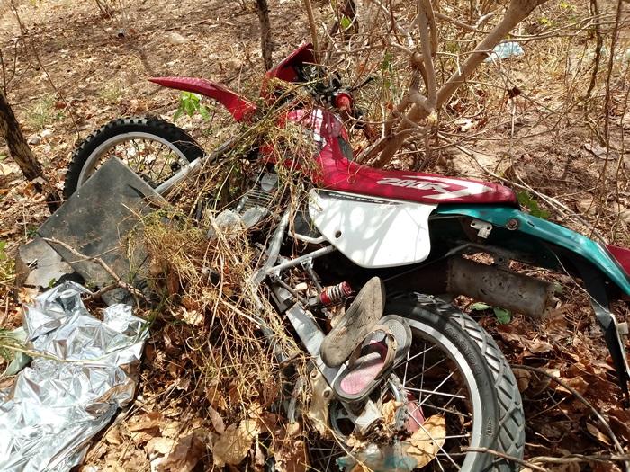 Homem morre em grave acidente de moto no interior do Piauí