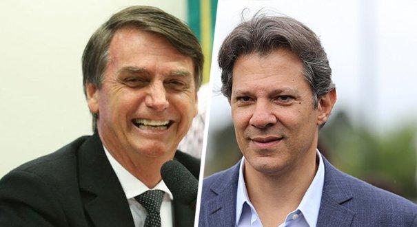 Datafolha para presidente, votos válidos: Bolsonaro, 58%; Haddad, 42%