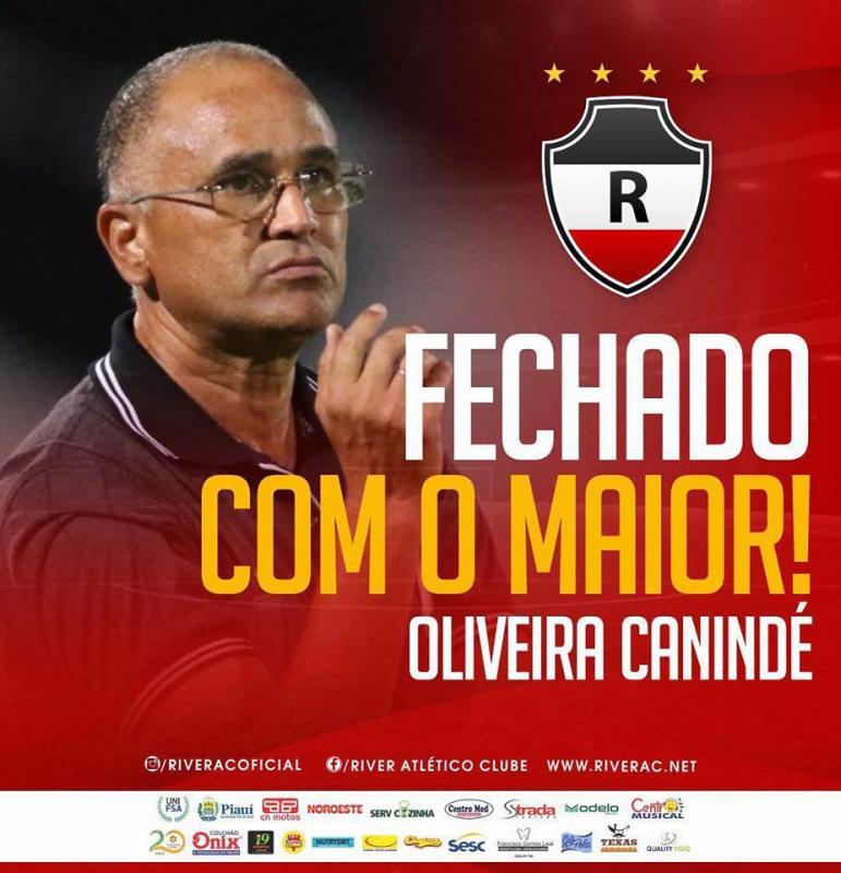 River anuncia Oliveira Canindé como novo treinador do Galo
