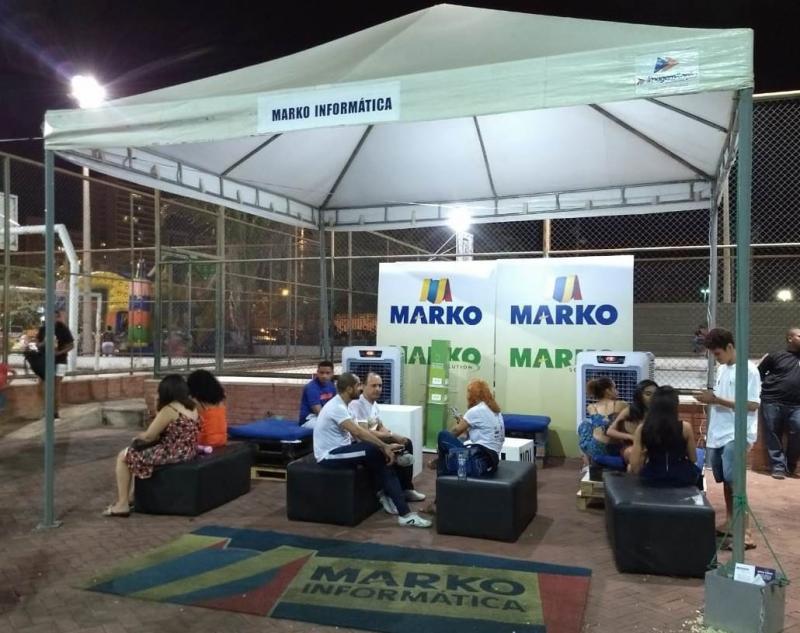 Espaço lounge da Marko recebeu vários visitantes durante o Vem Pro Parque