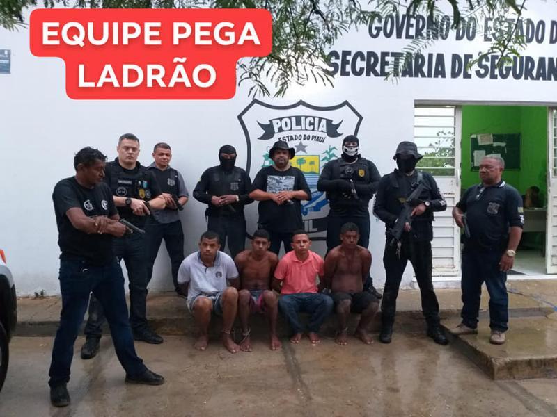 Operação na zona Norte de Teresina prende acusados de roubo, furto e latrocínio