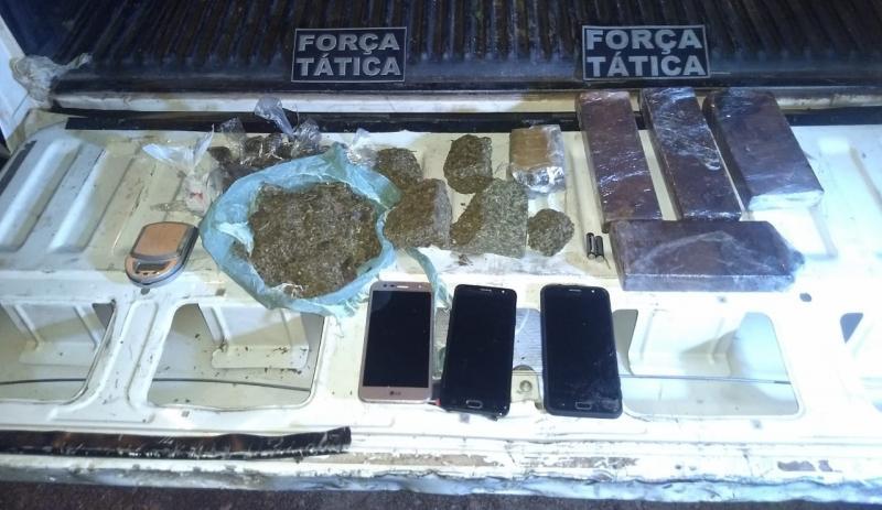 Polícia apreende explosivos e droga em Teresina