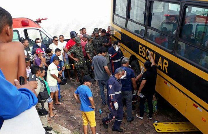 Ciclista morre após ser atropelada por ônibus de transporte escolar em Campo Maior
