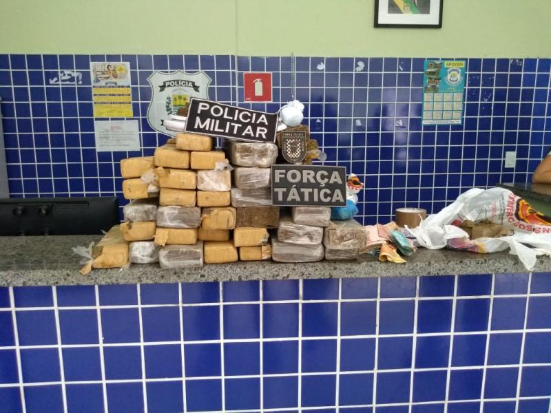 Polícia Militar apreende mais de 27 kg de drogas em Parnaíba
