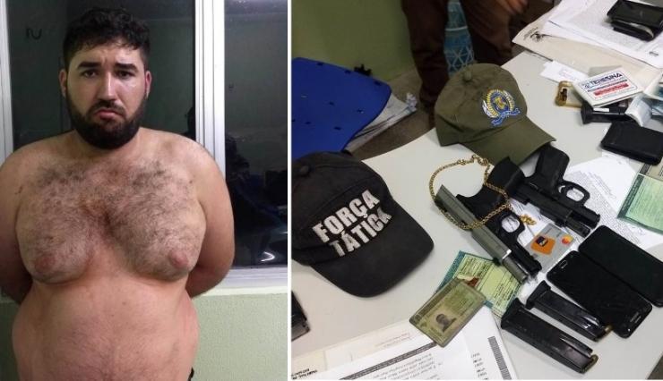 Homem é preso com pistolas depois de atitude suspeita contra empresário de Campo Maior
