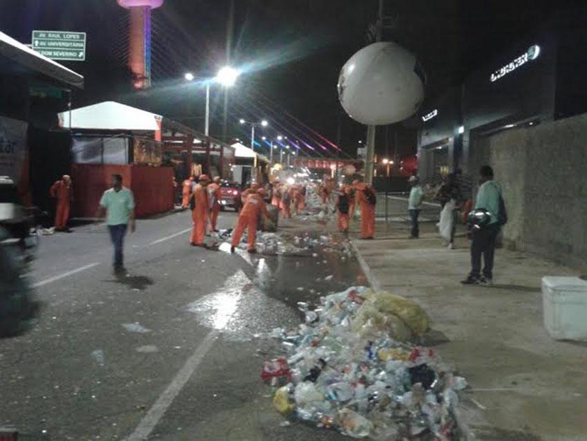 SDU Leste destinará mais de 200 profissionais para garantir a limpeza no Corso