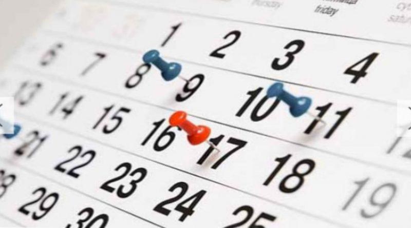 Governo publica calendário de pontos facultativos de 2019