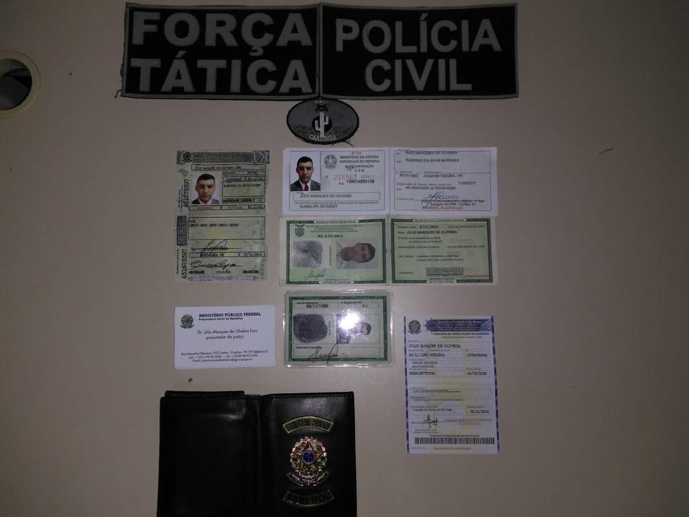 Homem é preso com documentos falsos de procurador federal