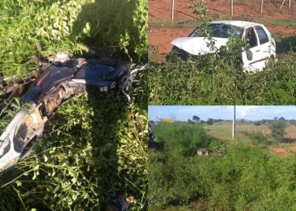 Mãe morre e filha fica gravemente ferida em acidente na BR-135