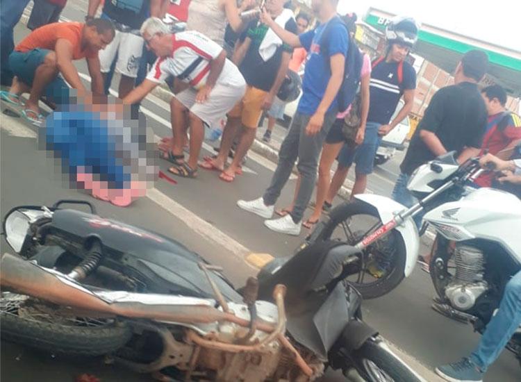 Motociclista morre após ser atropelada por ônibus em Teresina
