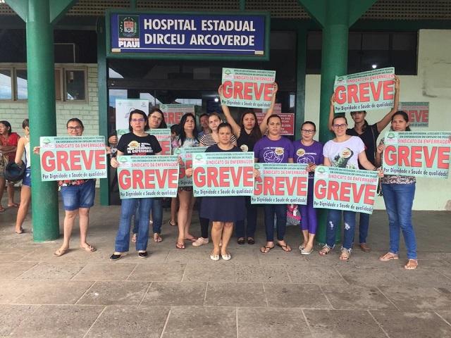 Enfermeiros e técnicos iniciam greve em hospitais estaduais do Piauí