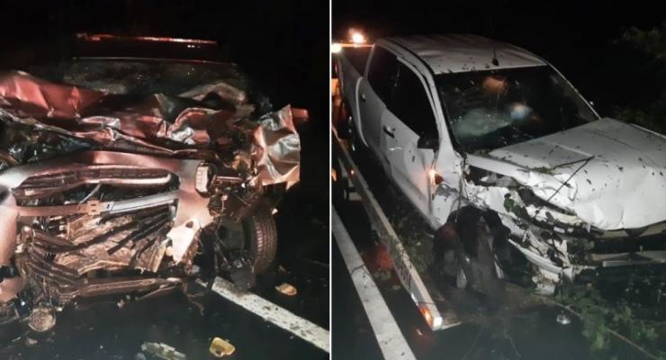 Colisão entre dois carros deixa nove pessoas feridas na BR-343