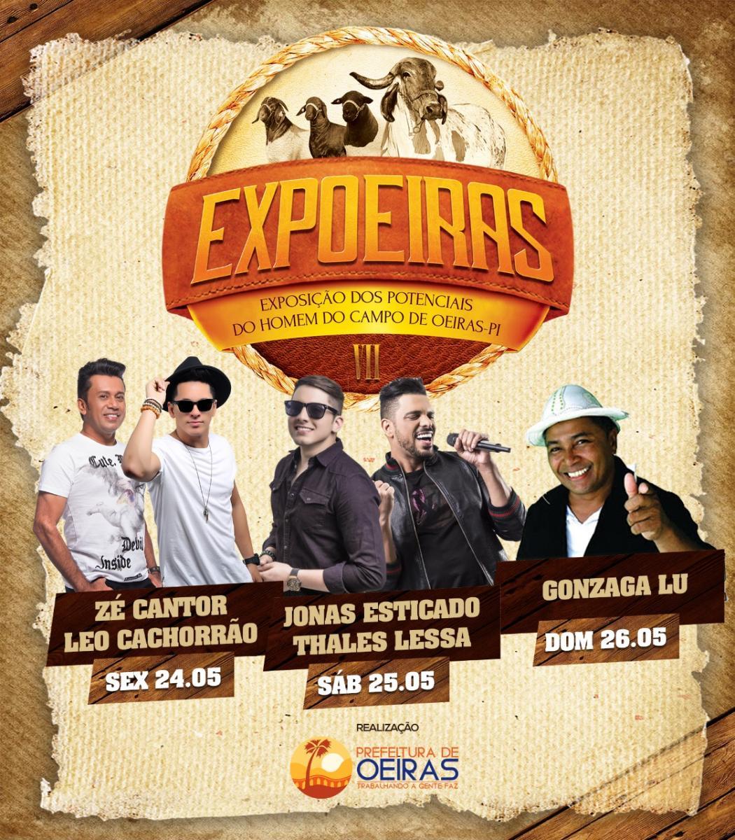 Prefeitura de Oeiras divulga atrações musicais da 7ª Expoeiras