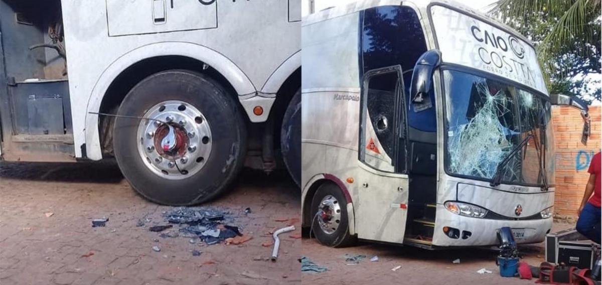 Cantor cancela show no Piauí e tem ônibus destruído pelo público