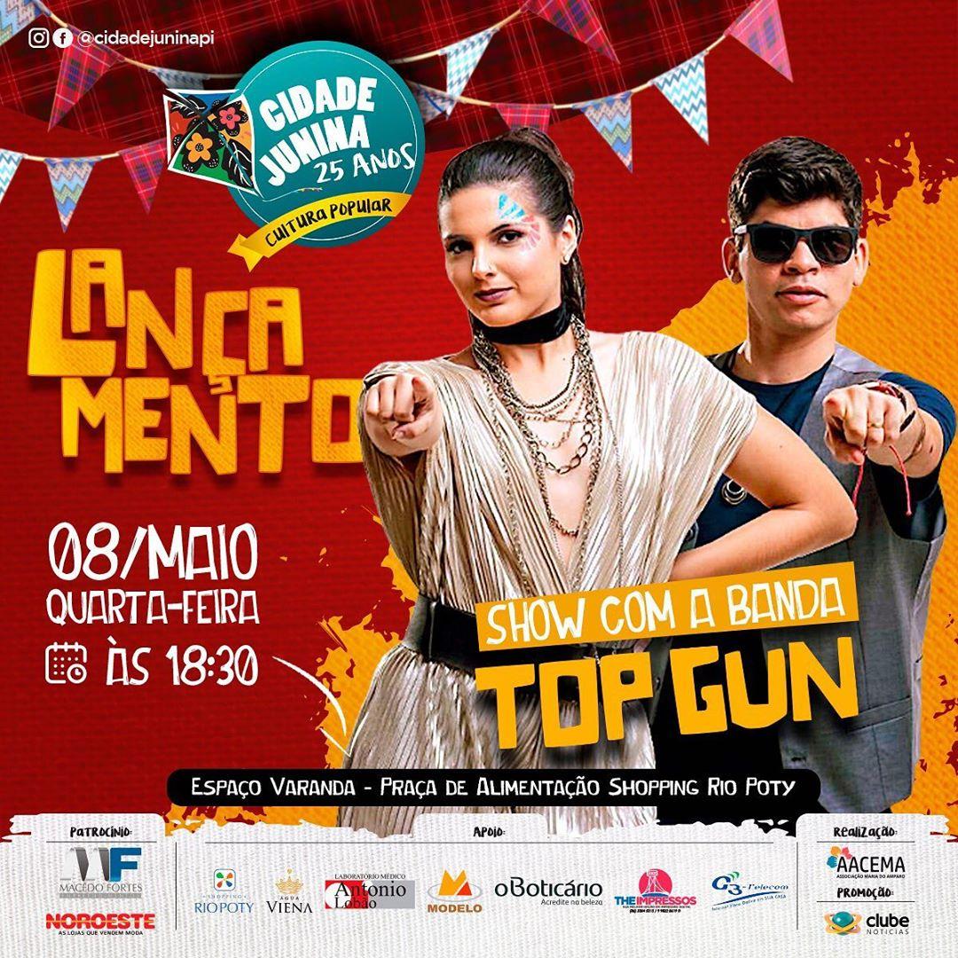 Cidade Junina 2019 é lançada hoje em Teresina com show gratuito da banda Top Gun