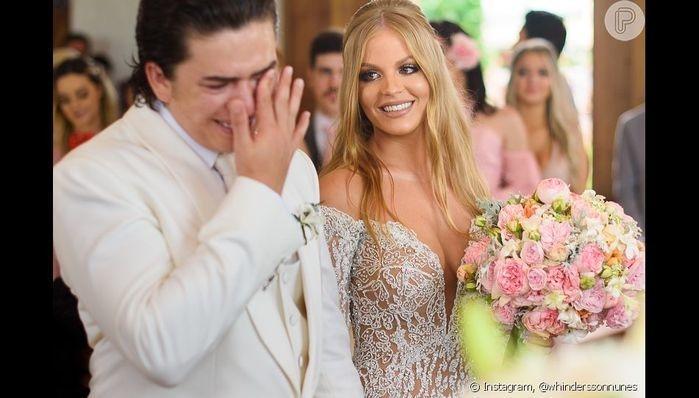 Piauiense Whindersson Nunes festeja primeiro mês de casado com Luíza Sonza
