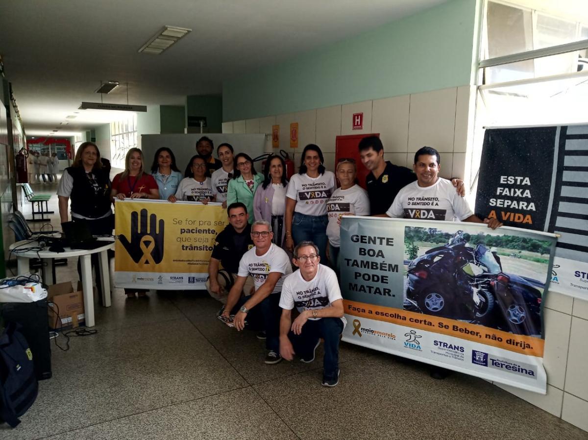 HUT participa de ações educativas referentes ao Maio Amarelo