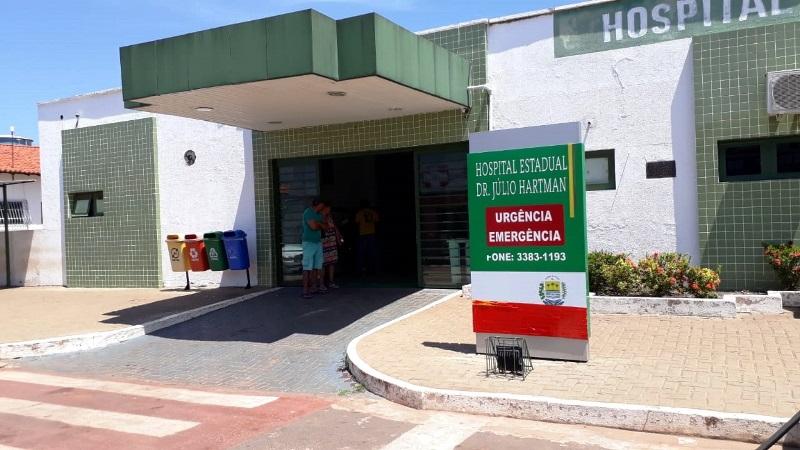 Homem sofre acidente na Avenida Petrônio Portela em Esperantina