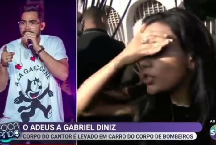 Repórter sofre tentativa de furto ao vivo durante velório de Gabriel Diniz