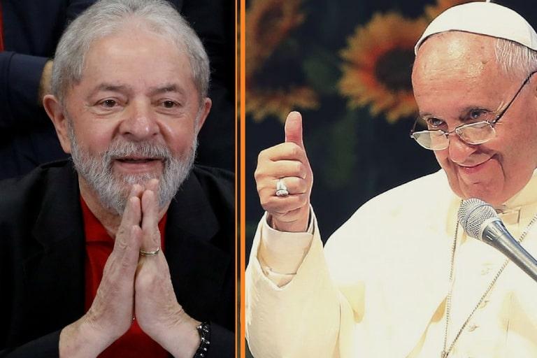 Lula divulga carta em que Papa Francisco lamenta perdas familiares e pede coragem para o petista 'não desanimar'