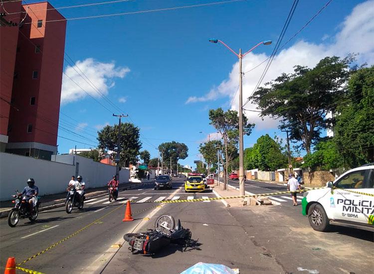 Acidente de trânsito na Zona Leste de Teresina causa morte de motorista