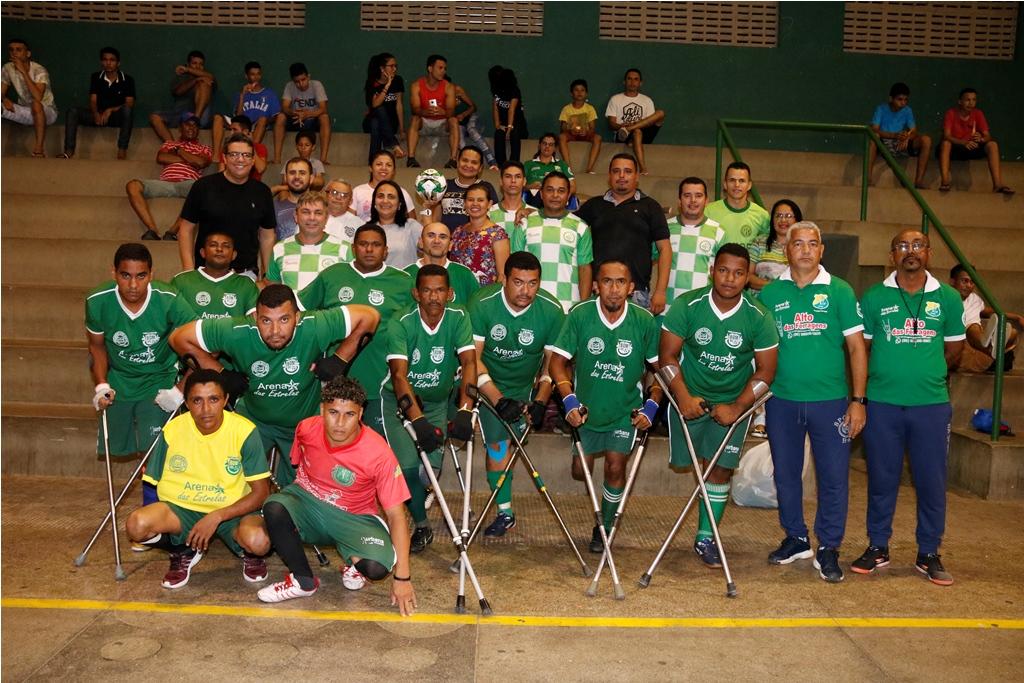 Campeonato de Futsal de Água Branca conta com participação de esportistas deficientes