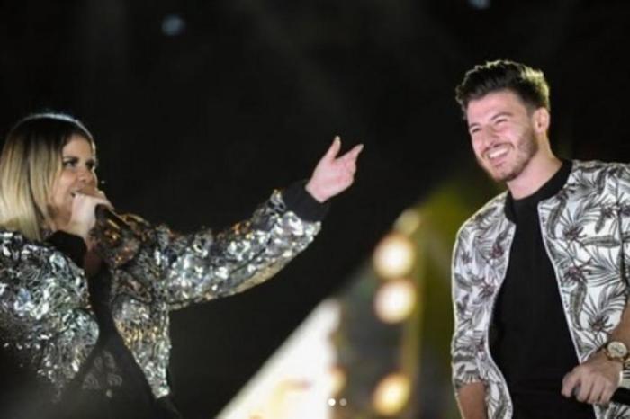 Marília Mendonça convida Gabriel Smaniotto para o palco após repercussão do show sem público do cantor