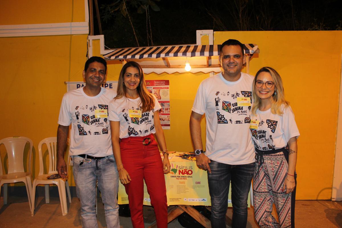 FMS realiza trabalho de prevenção de doenças em stand na Cidade Junina