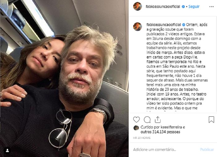 Fábio Assunção se pronuncia após vazamento de vídeos íntimos