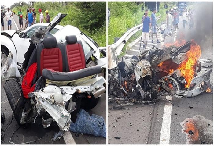 Sobrevivente do acidente entre dois carros de luxo na BR343 presta depoimento