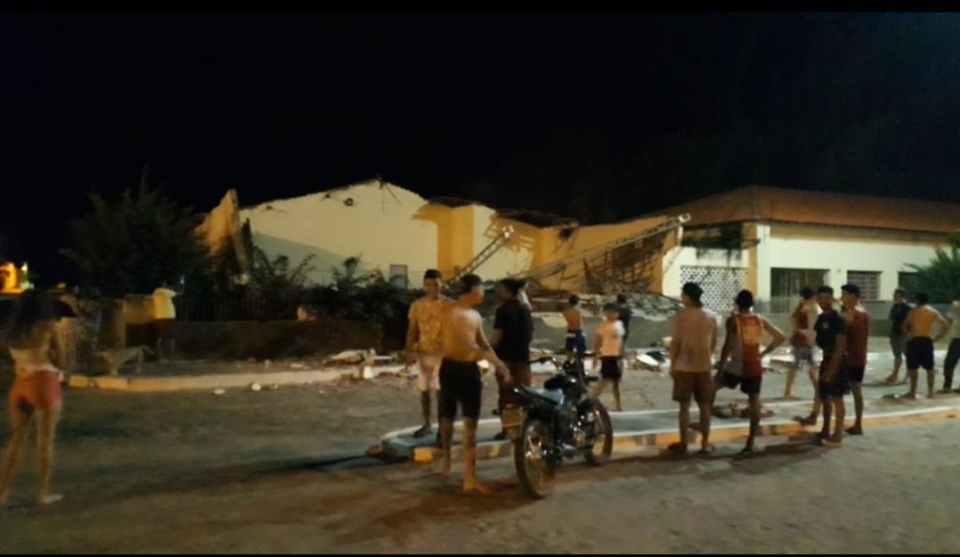 Prédio escolar desaba no município de São João da Fronteira