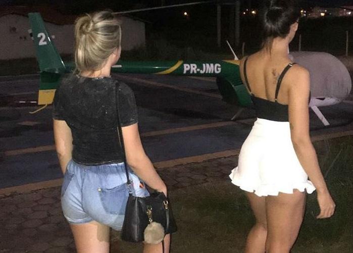 Fotos de garotas em helicóptero da PM do Piauí repercutem nas redes sociais