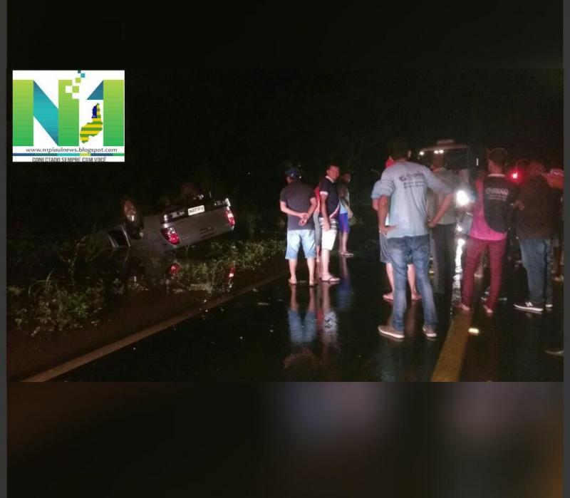 Motorista de Sindicato morre e advogado fica ferido após acidente na BR-135 no Piauí