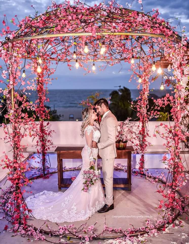 A Força da Notícia: Casamento na Praia - Leyd Paiva e Bruno Ximenes