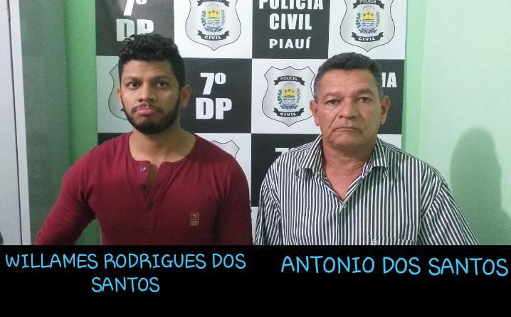 Pai e filho são presos por suspeita de furto em mais de 30 casas no Piauí