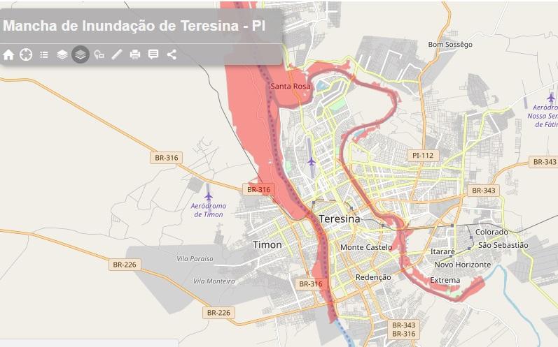 Risco de Enchente: Defesa Civil de Teresina monitora rios Poti e Parnaíba