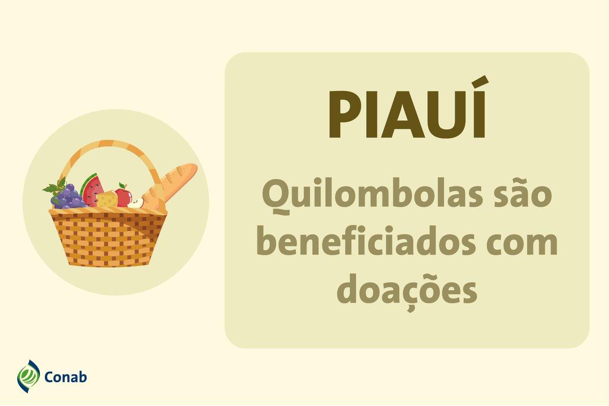 Famílias quilombolas do Piauí receberão cestas básicas da Conab neste mês