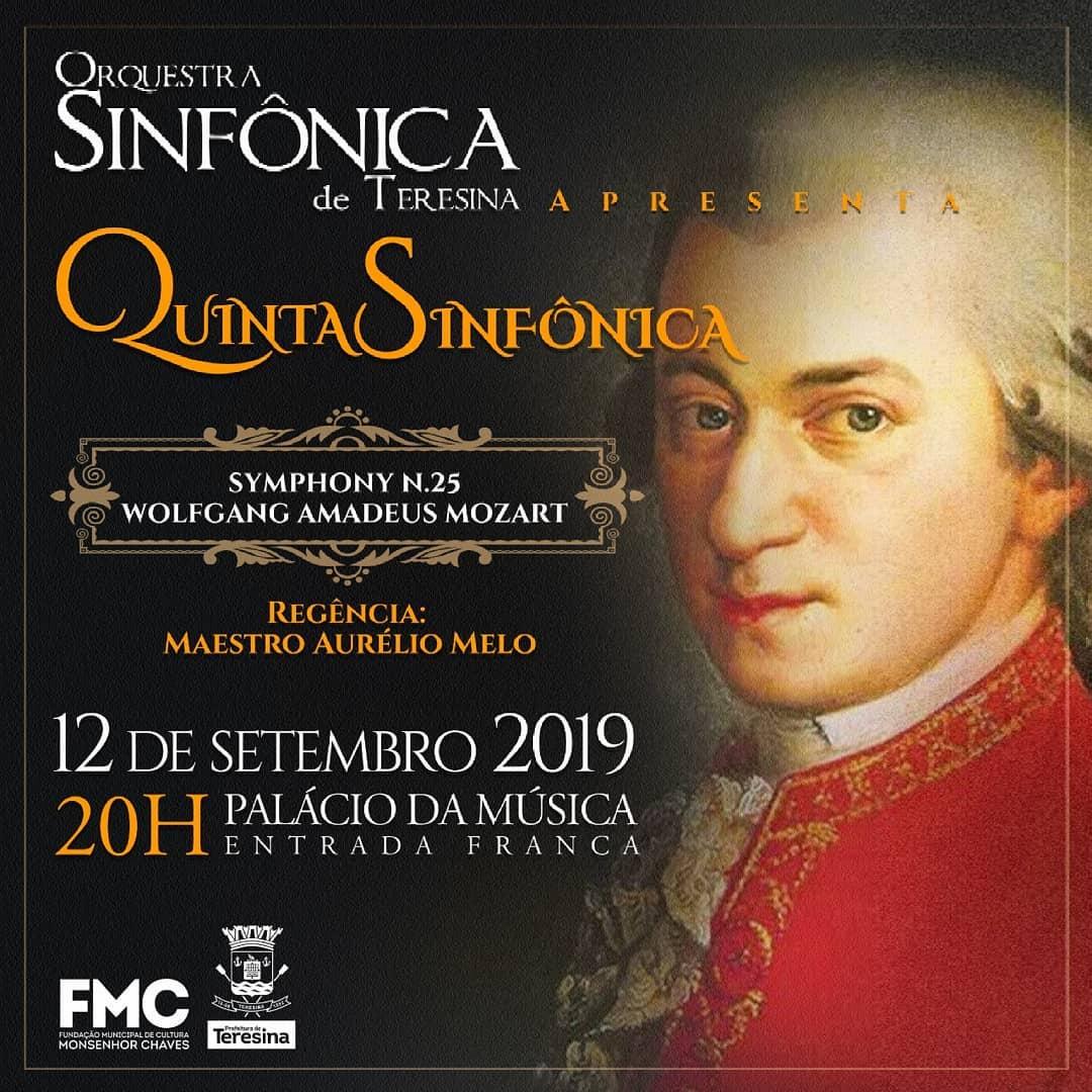 Sinfonia romântica de Mozart será contemplada no Quinta Sinfônica
