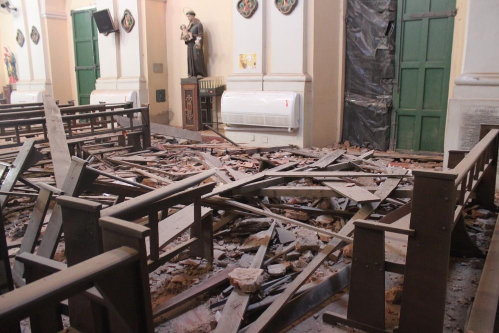 Três anos em obras, igreja São Benedito permanece fechada e tem previsão para reabrir  em outubro