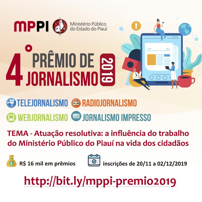 Ministério Público do Piauí lança 4° edição de prêmio de jornalismo