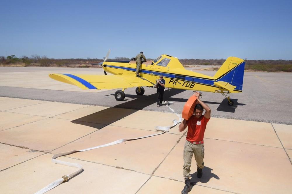 Corpo de Bombeiros aluga avião para combater incêndios florestais no Piauí
