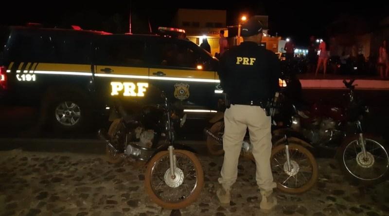 PRF recupera três motos tomadas de assalto na BR 343