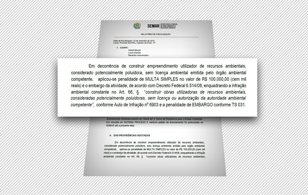 Condomínio de luxo é multado no Piauí em R$100 mil por realização de obras sem autorização ambiental