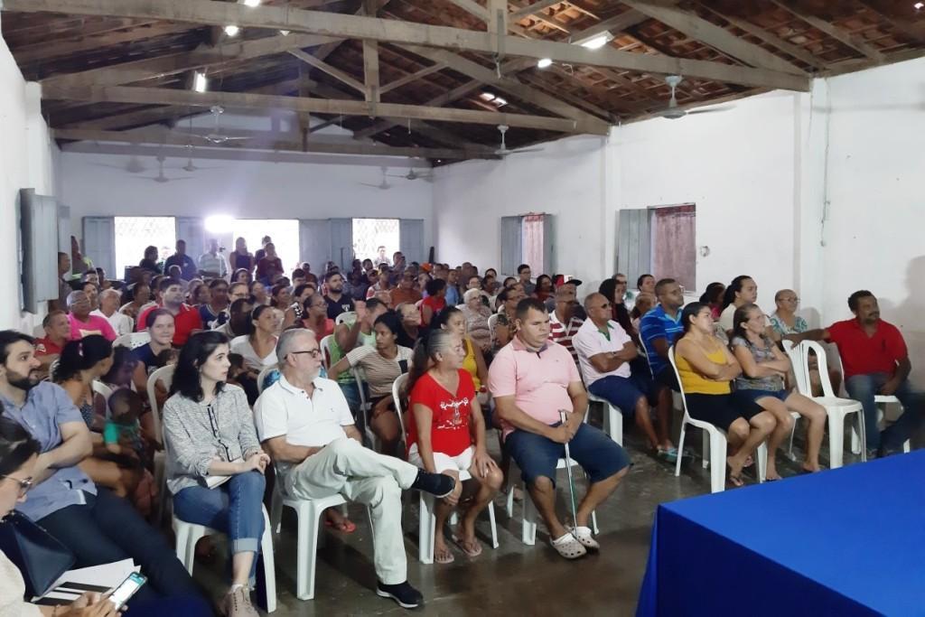 Técnicos do Programa Lagoas do Norte reúnem com moradores da região para discutir sobre início das obras