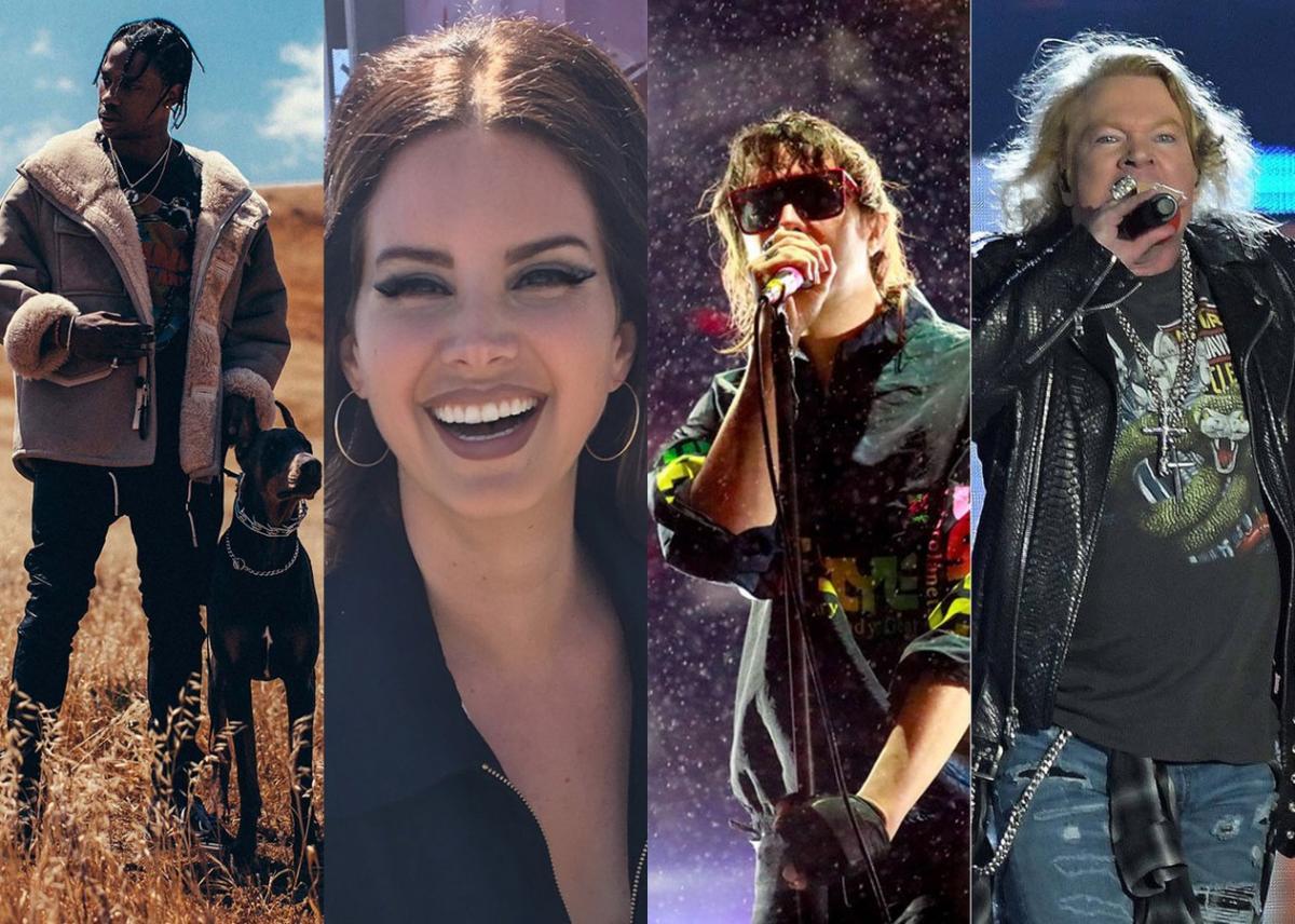 Lollapalooza 2020: Guns N' Roses, Travis Scott e Lana Del Rey são destaques