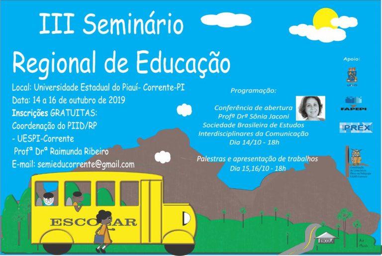 Uespi promove o III seminário Regional de Educação em Corrente